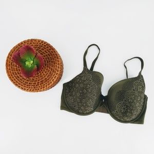 Vs perfect coverage bra army green w/ lace